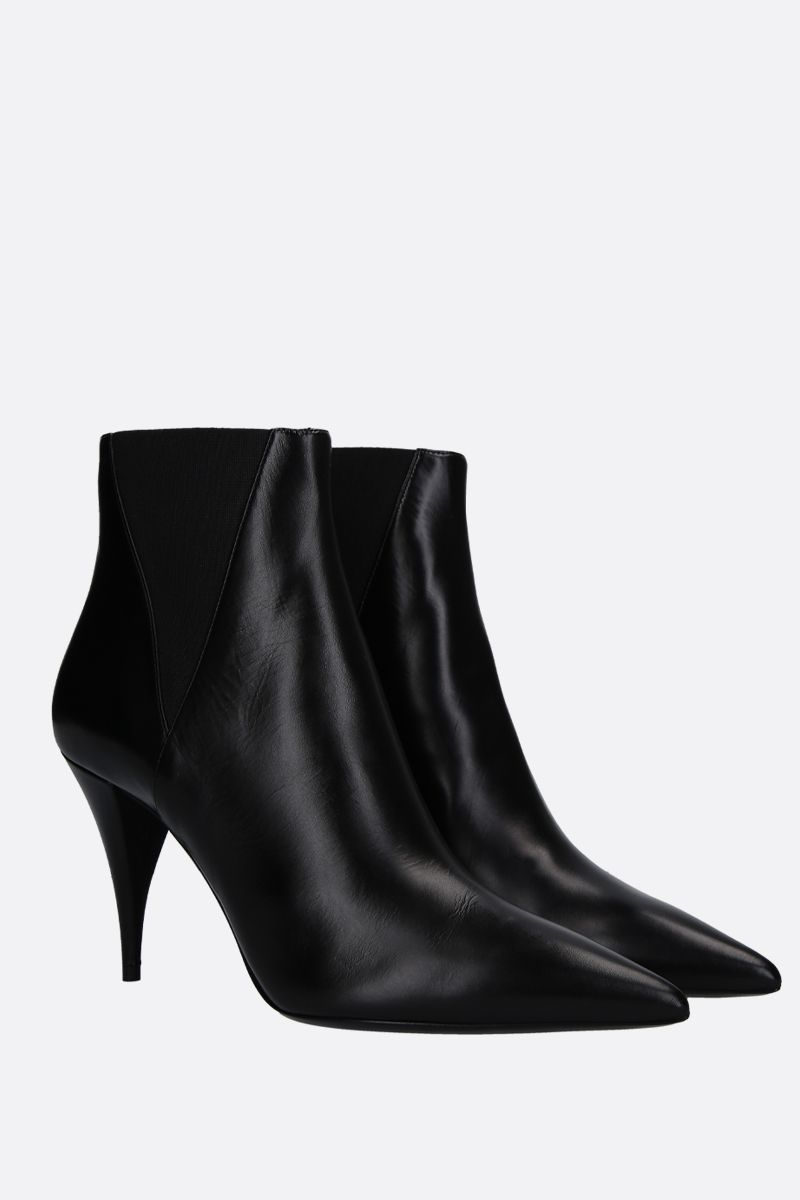 SAINT LAURENT: Kiki ankle boots in smooth leather Color Black_2