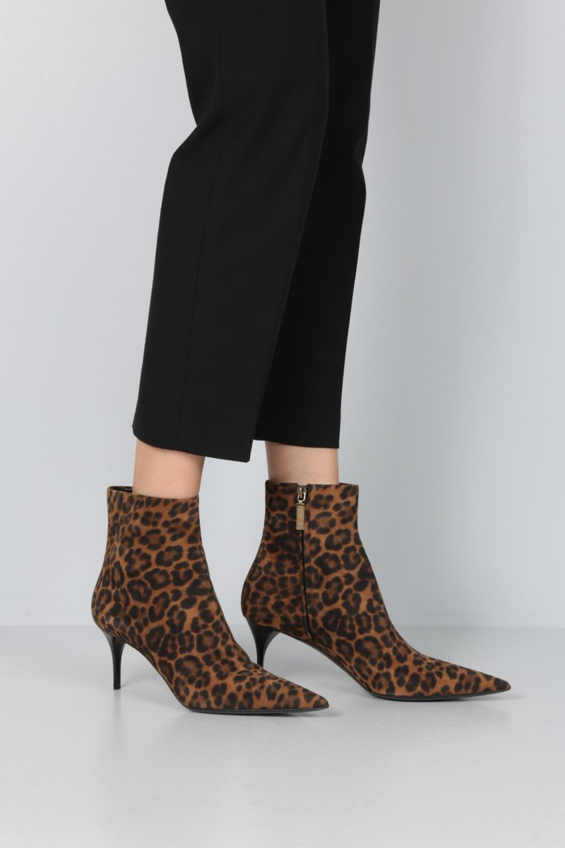 SAINT LAURENT: Lexi leopard-print suede booties_2