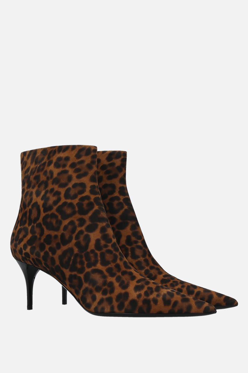 SAINT LAURENT: Lexi leopard-print suede booties_3