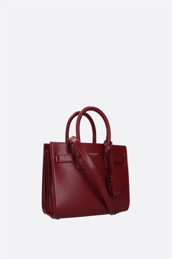 SAINT LAURENT: Sac de Jour nano smooth leather handbag Color Red_2