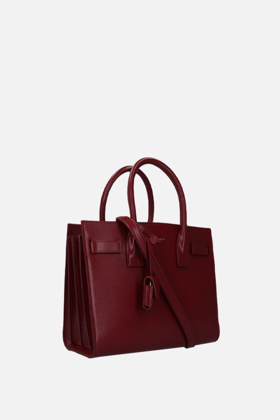 SAINT LAURENT: Sac de Jour baby shiny leather handbag Color Red_2