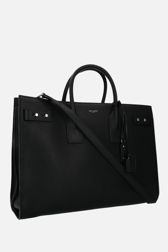 SAINT LAURENT: Sac de Jour large grainy leather handbag Color Black_2