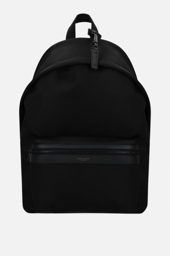 SAINT LAURENT: City nylon backpack Color Black_1