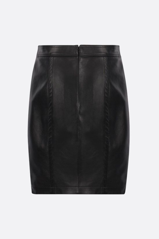 SAINT LAURENT: nappa pencil skirt Color Black_2