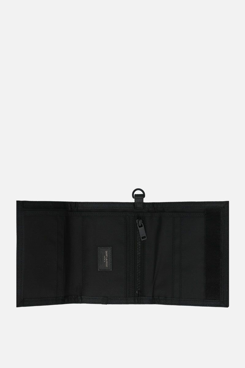 SAINT LAURENT: Nuxx chain wallet in nylon Color Black_2