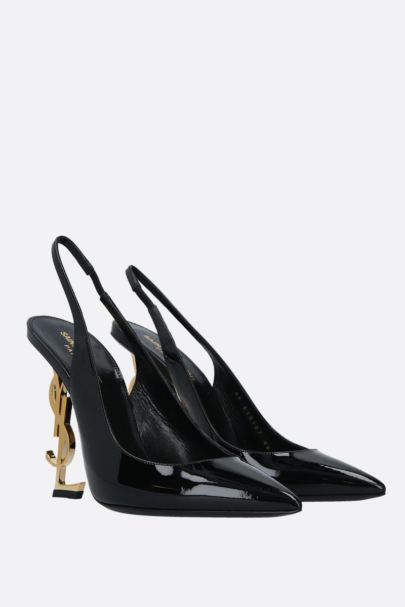 SAINT LAURENT: slingback Opyum in vernice Colore Nero_2