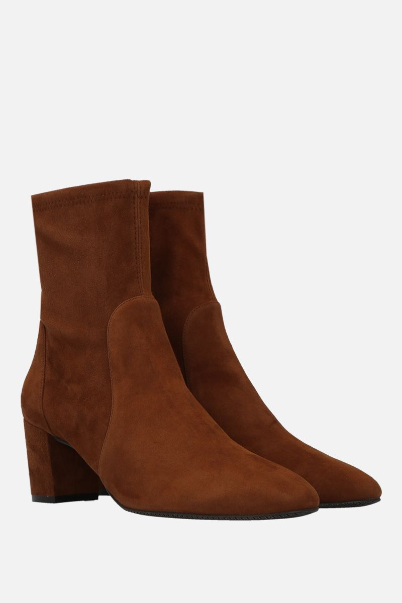 STUART WEITZMAN: Yuliana ankle boots in soft suede Color Brown_2