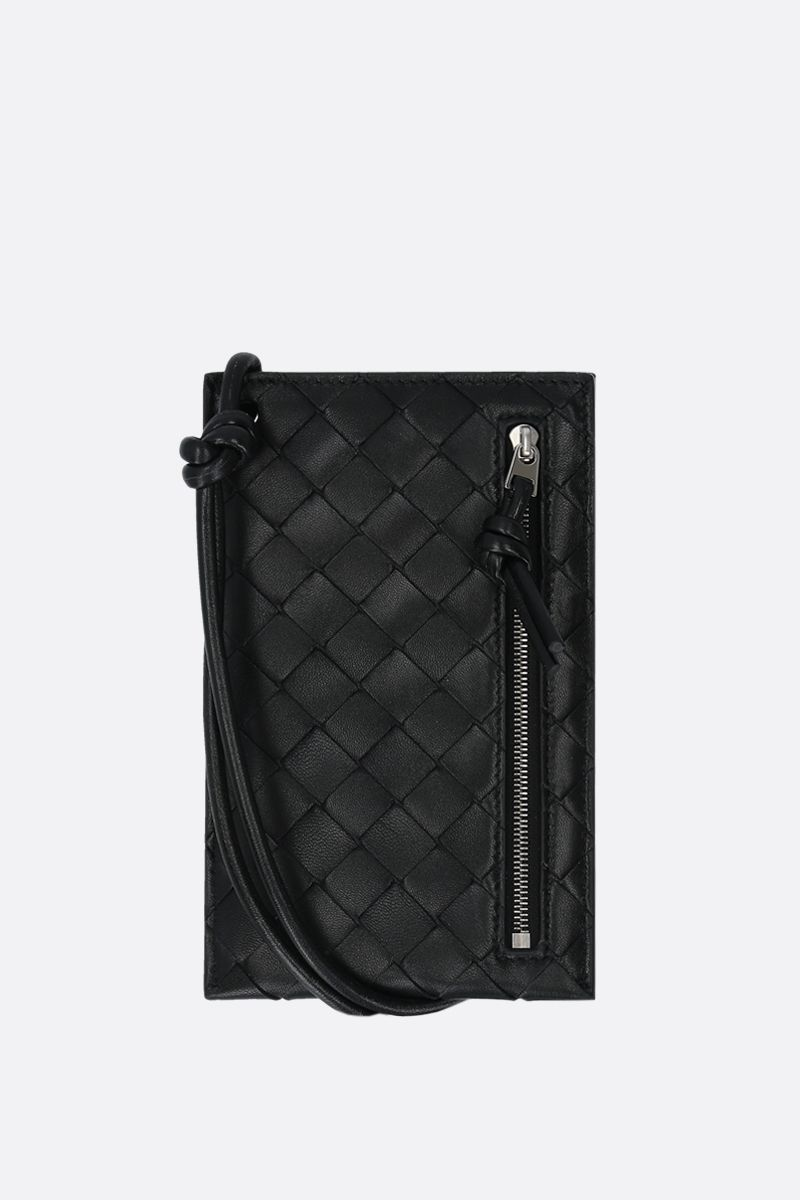 BOTTEGA VENETA: Intrecciato VN smartphone holder Color Black_1