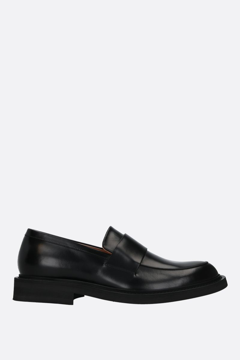 BOTTEGA VENETA: shiny Varenne leather loafers Color Black