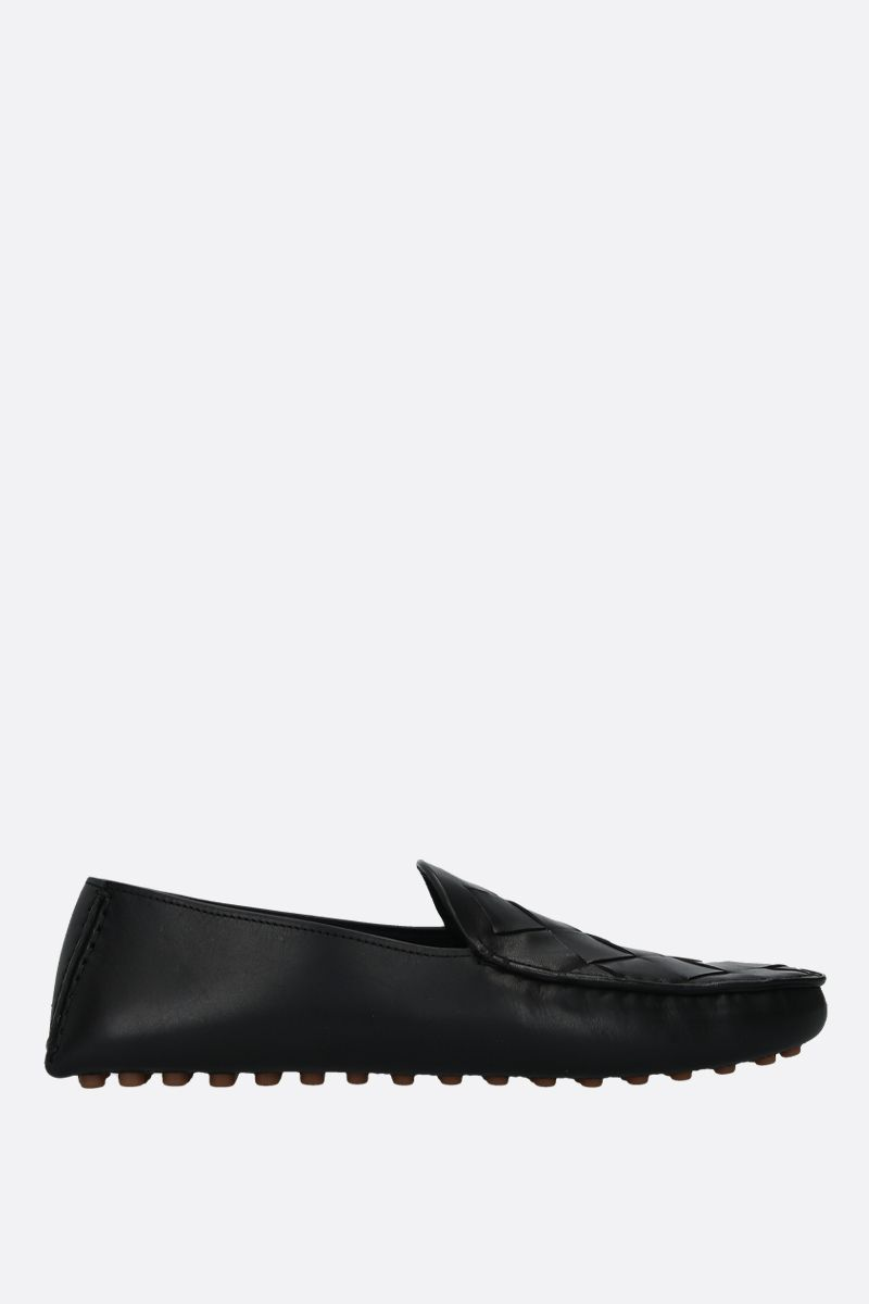 BOTTEGA VENETA: Maxi Intrecciato leather loafers Color Black_1