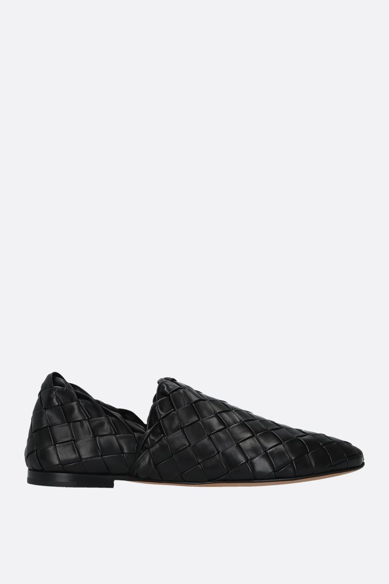 BOTTEGA VENETA: Intrecciato nappa slippers Color Black_1