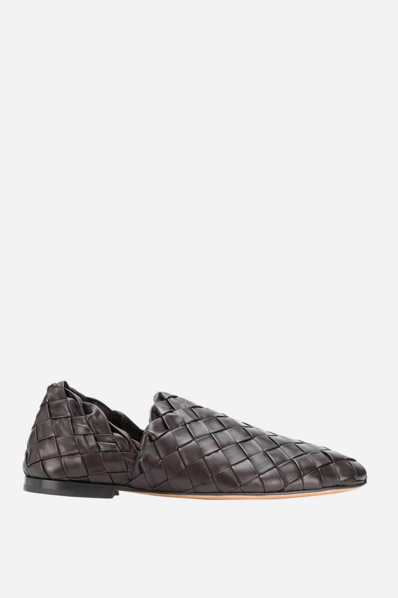 BOTTEGA VENETA: Intrecciato nappa slippers Color Brown_1
