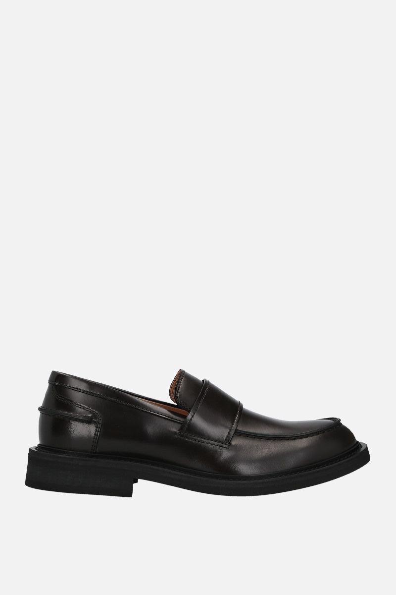 BOTTEGA VENETA: brushed calf loafers Color Brown_1