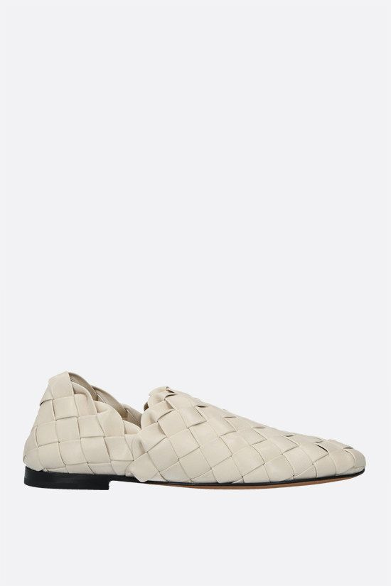BOTTEGA VENETA: slipper in Intrecciato nappa Colore Neutro_1