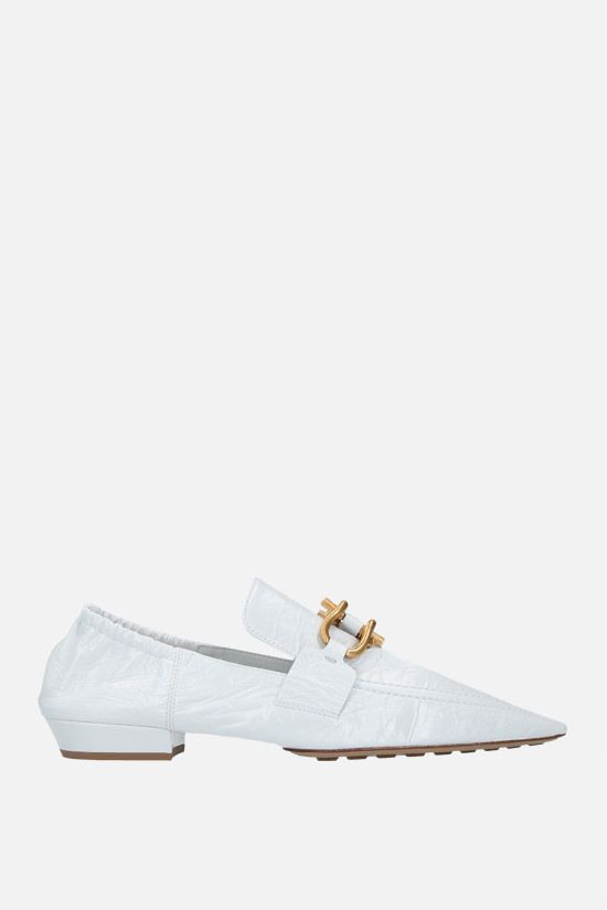 BOTTEGA VENETA: The Madame Crush nappa loafers Color White_1