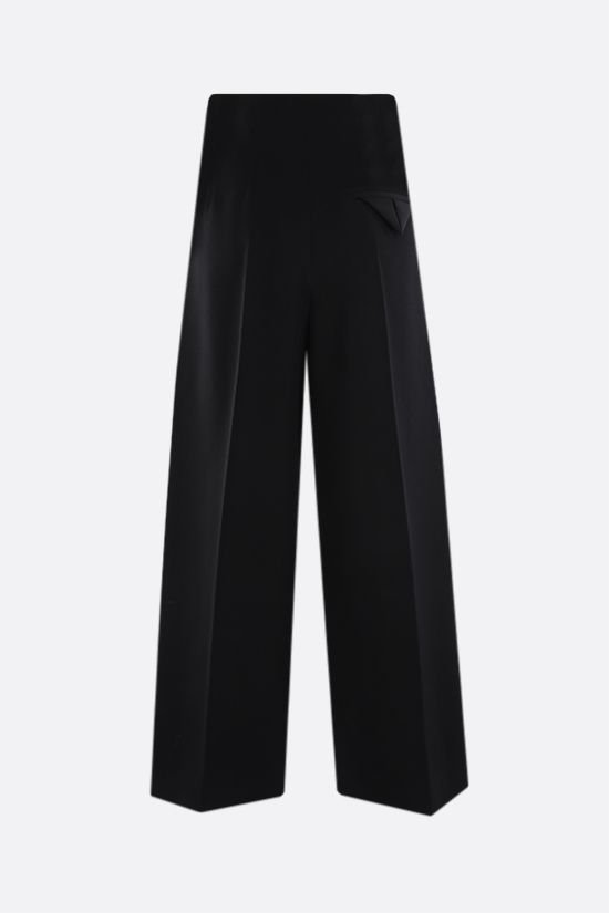 BOTTEGA VENETA: wide-leg cropped wool pants Color Black_2