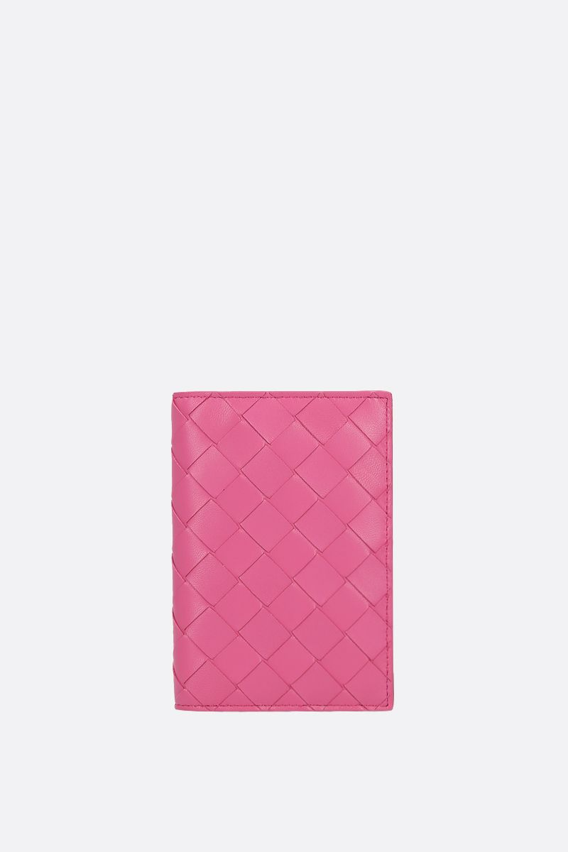 BOTTEGA VENETA: Intrecciato nappa passport holder Color Pink_1
