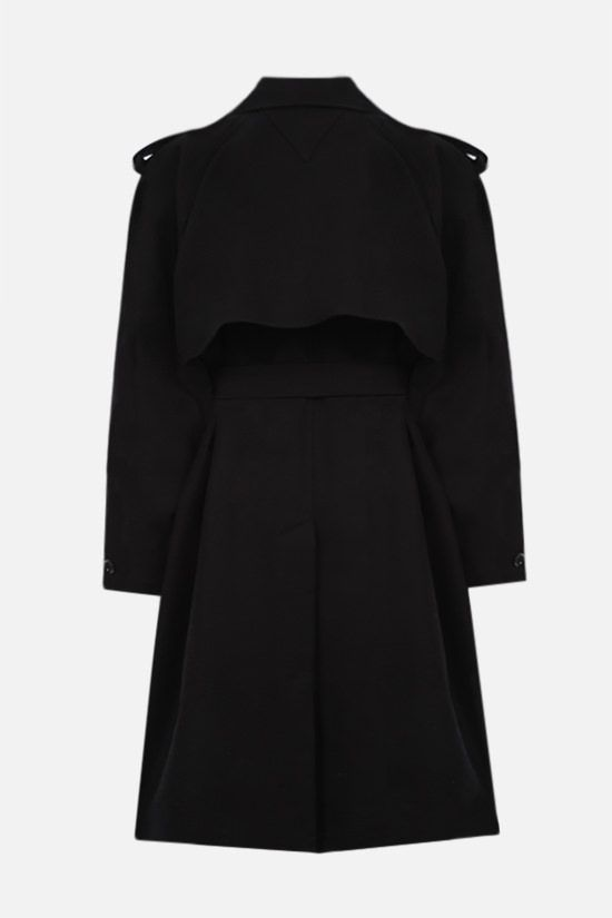 BOTTEGA VENETA: double-breasted cotton trench coat Color Black_2