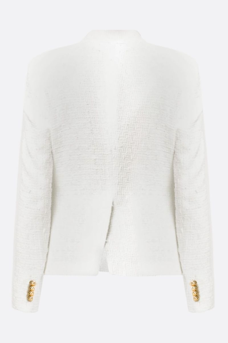 TAGLIATORE: Jalicya tweed double-breasted jacket Color White_2