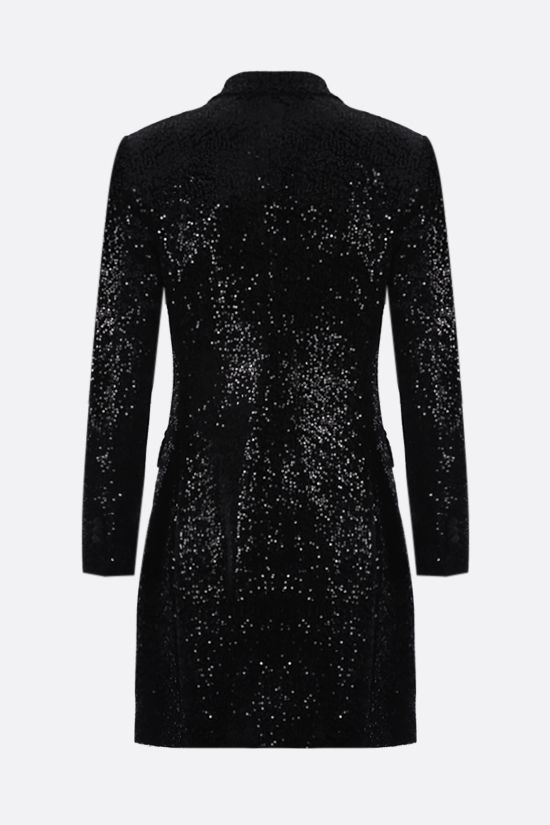TAGLIATORE: Winnie double-breasted sequin velvet jacket Color Black_2