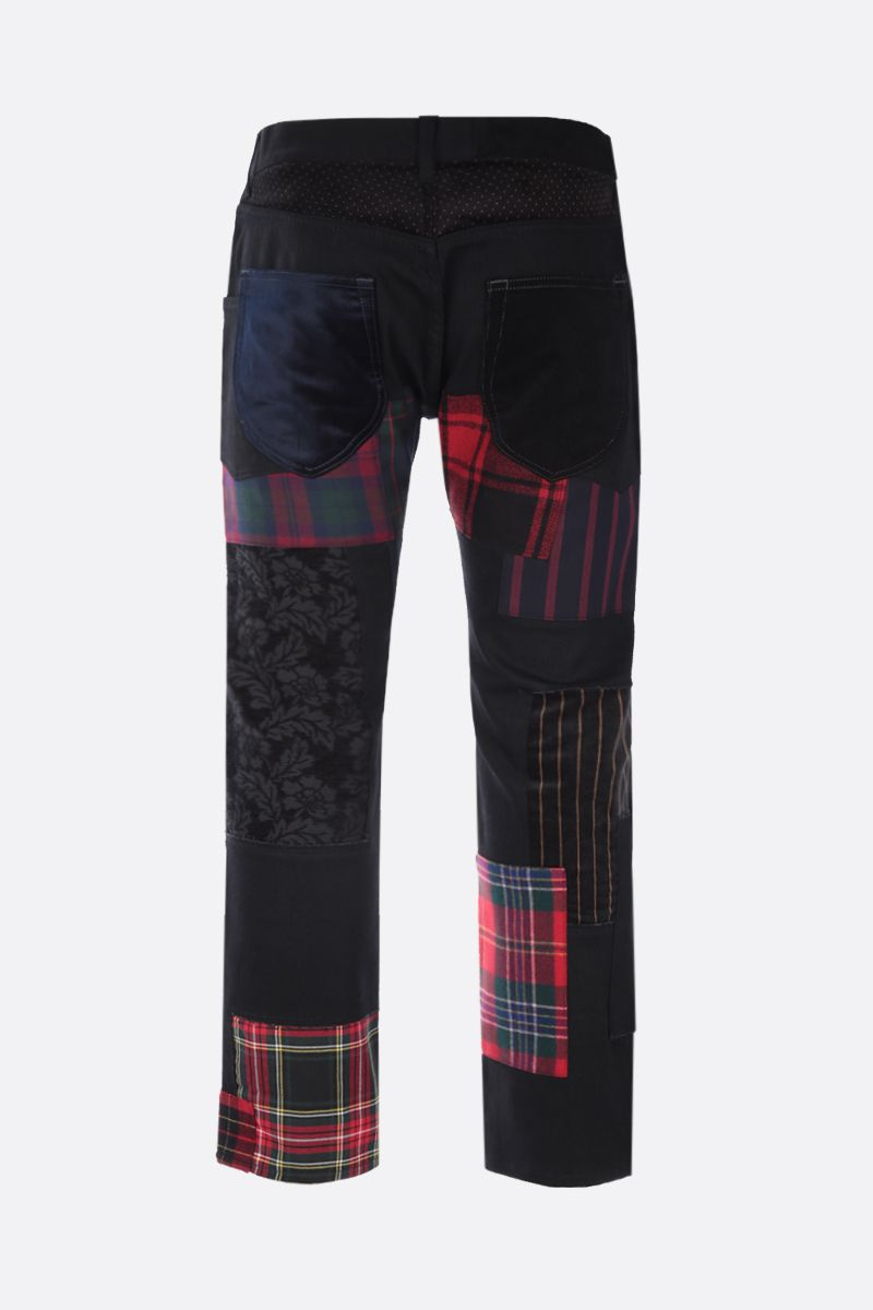 JUNYA WATANABE MAN: jeans con patches Colore Black_2