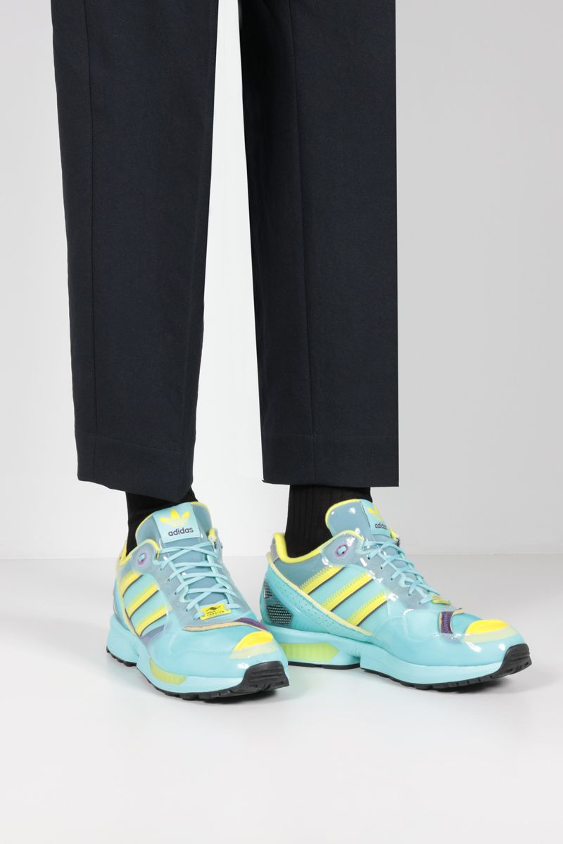 ADIDAS STATEMENT: XZ 0006 Inside Out sneakers in mesh and TPU Color Blue_2