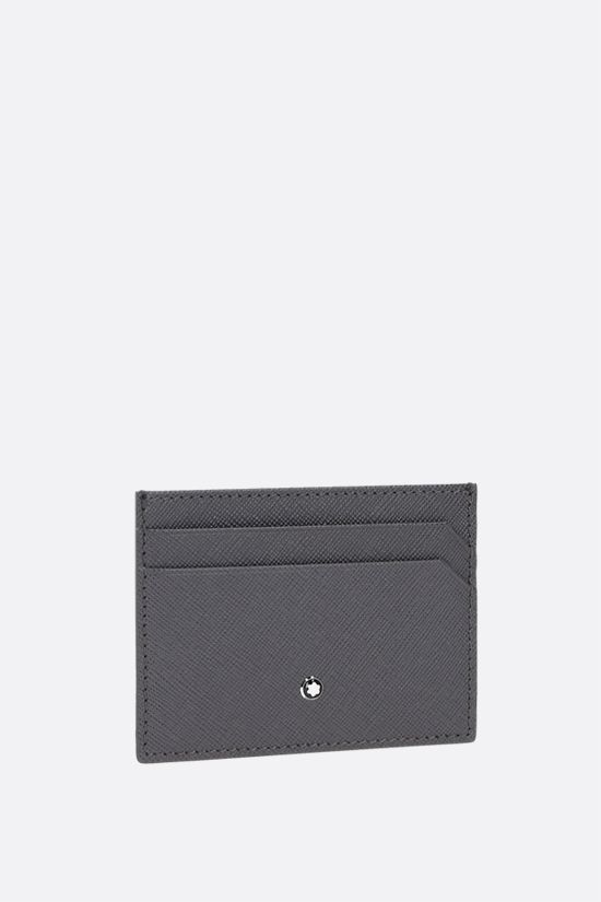 MONTBLANC: Montblanc Sartorial textured leather card case Color Grey_2