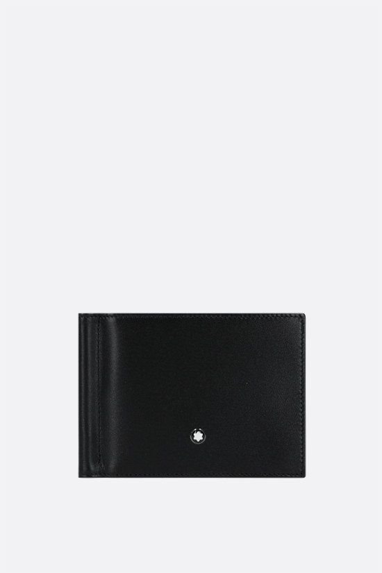 MONTBLANC: Meisterstück smooth leather wallet with money clip Color Black_1