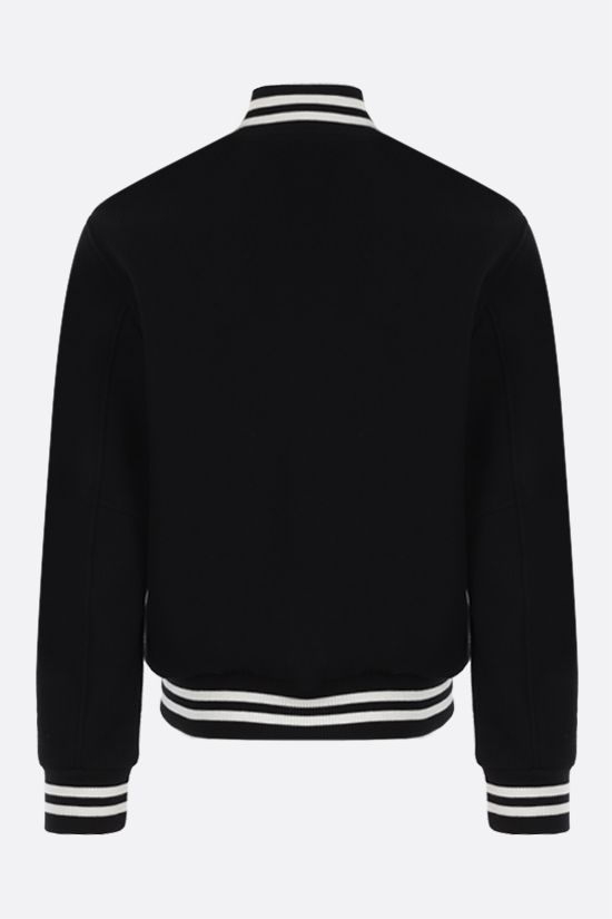 OFF WHITE: bomber Diagonals in misto lana Colore Nero_2