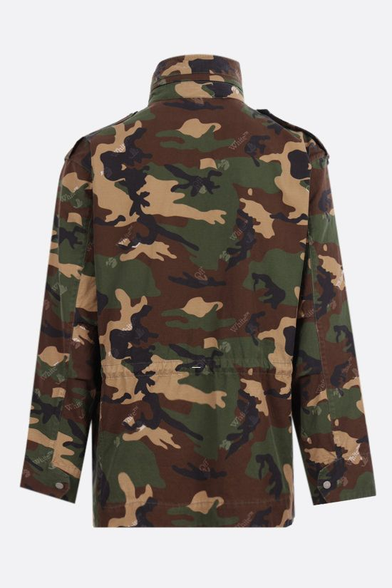 OFF WHITE: camouflage print cotton ripstop field jacket Color Multicolor_2