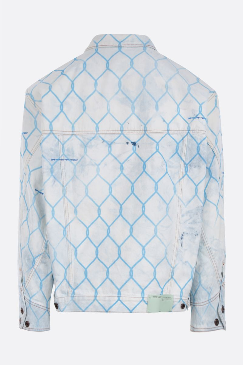OFF WHITE: Fence oversized jacket in denim Color Blue_2