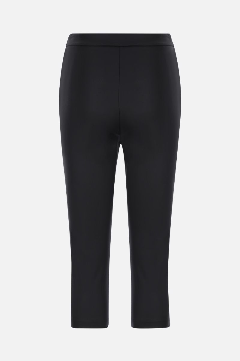 OFF WHITE: Active coated canvas cropped pants Color Black_2