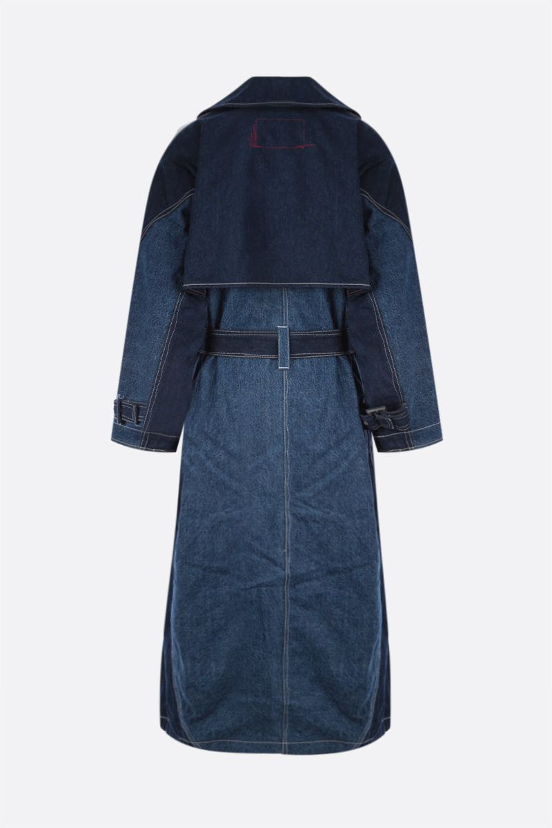 LEVI'S MADE & CRAFTED: trench Levi's® Red Twisted in denim Colore Blue_2