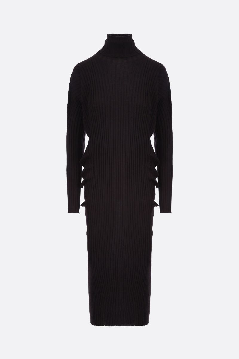 BOTTEGA VENETA: ribbed wool midi dress_1