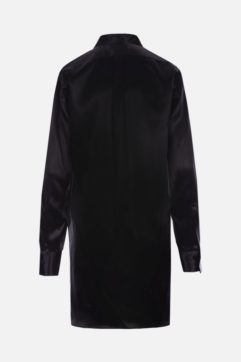 BOTTEGA VENETA: satin tuxedo shirt Color Black_2