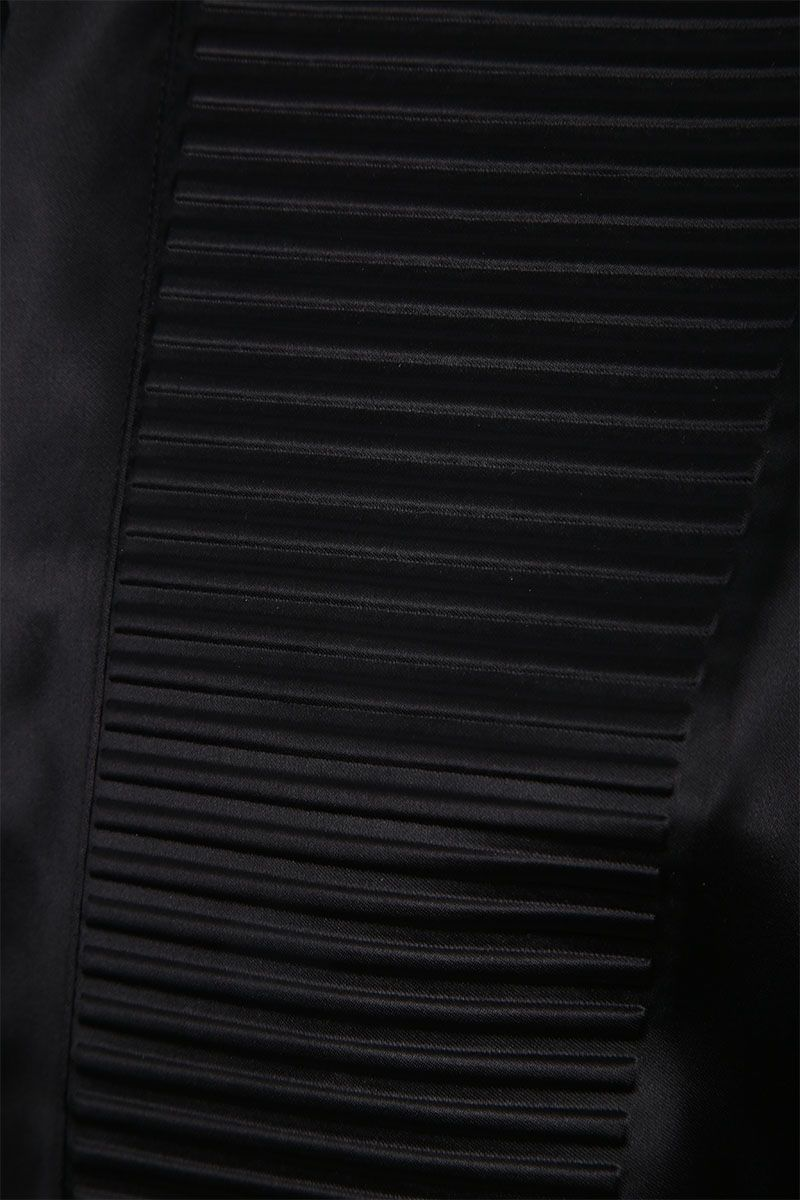 BOTTEGA VENETA: camicia smoking in raso Colore Nero_3