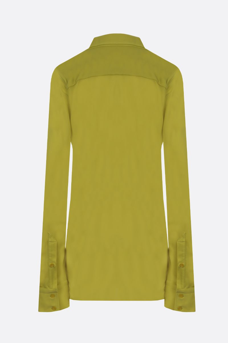 BOTTEGA VENETA: jersey crepe shirt Color Green_2