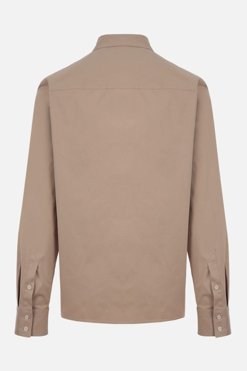 BOTTEGA VENETA: regular-fit stretch cotton shirt Color Neutral_2
