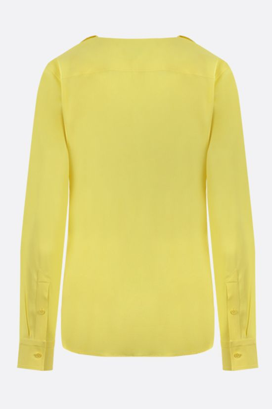 BOTTEGA VENETA: fringe-detailed stretch viscose shirt Color Yellow_2