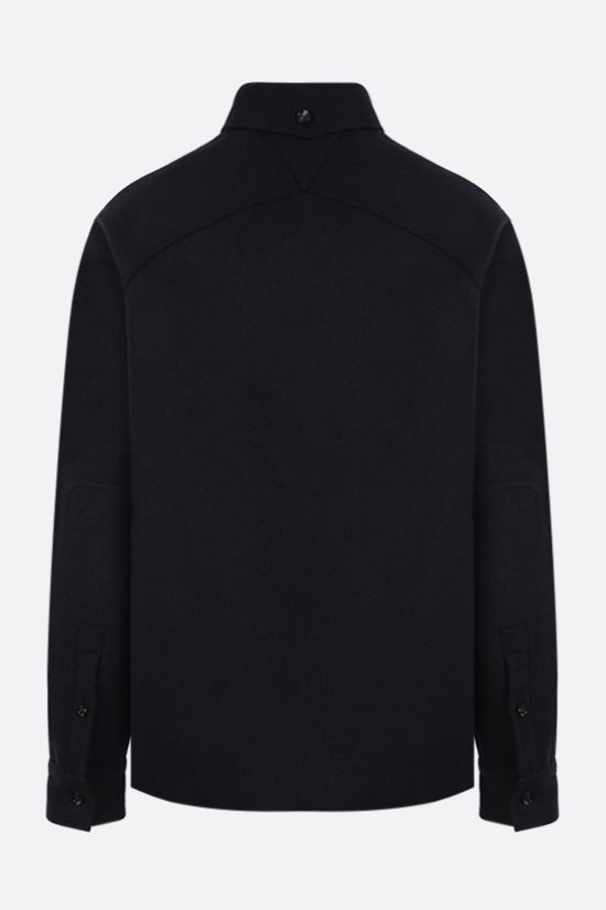 BOTTEGA VENETA: wool felt overshirt Color Blue_2