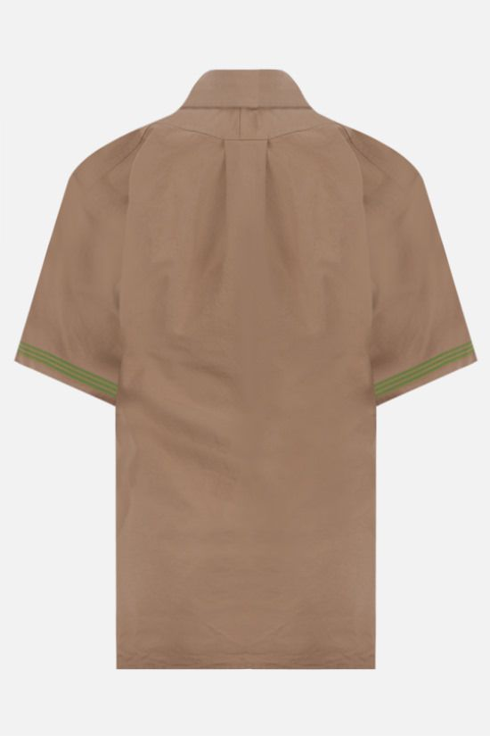 BOTTEGA VENETA: short-sleeved cotton shirt Color Brown_2