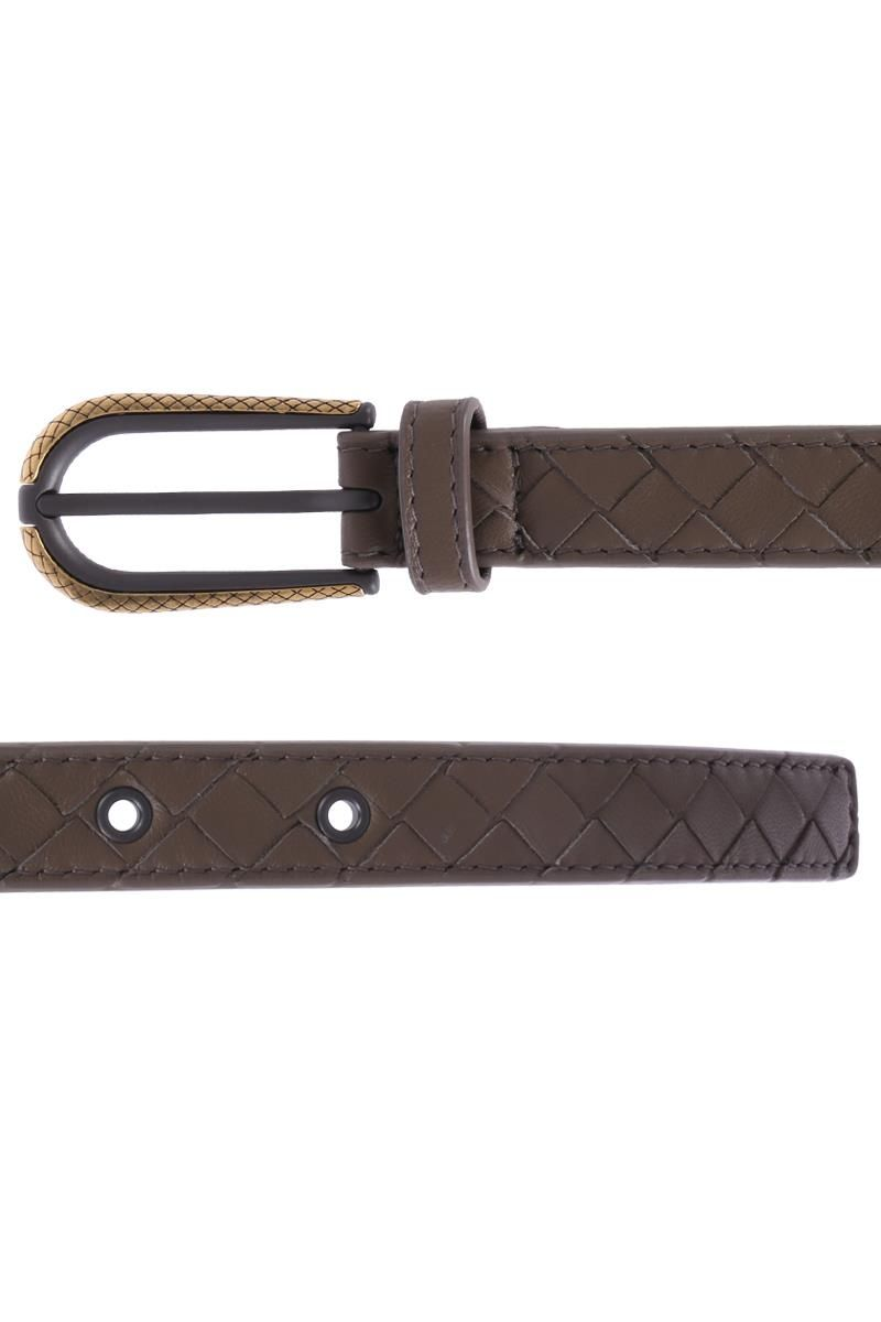 BOTTEGA VENETA: belt in Intrecciato Color Grey_2