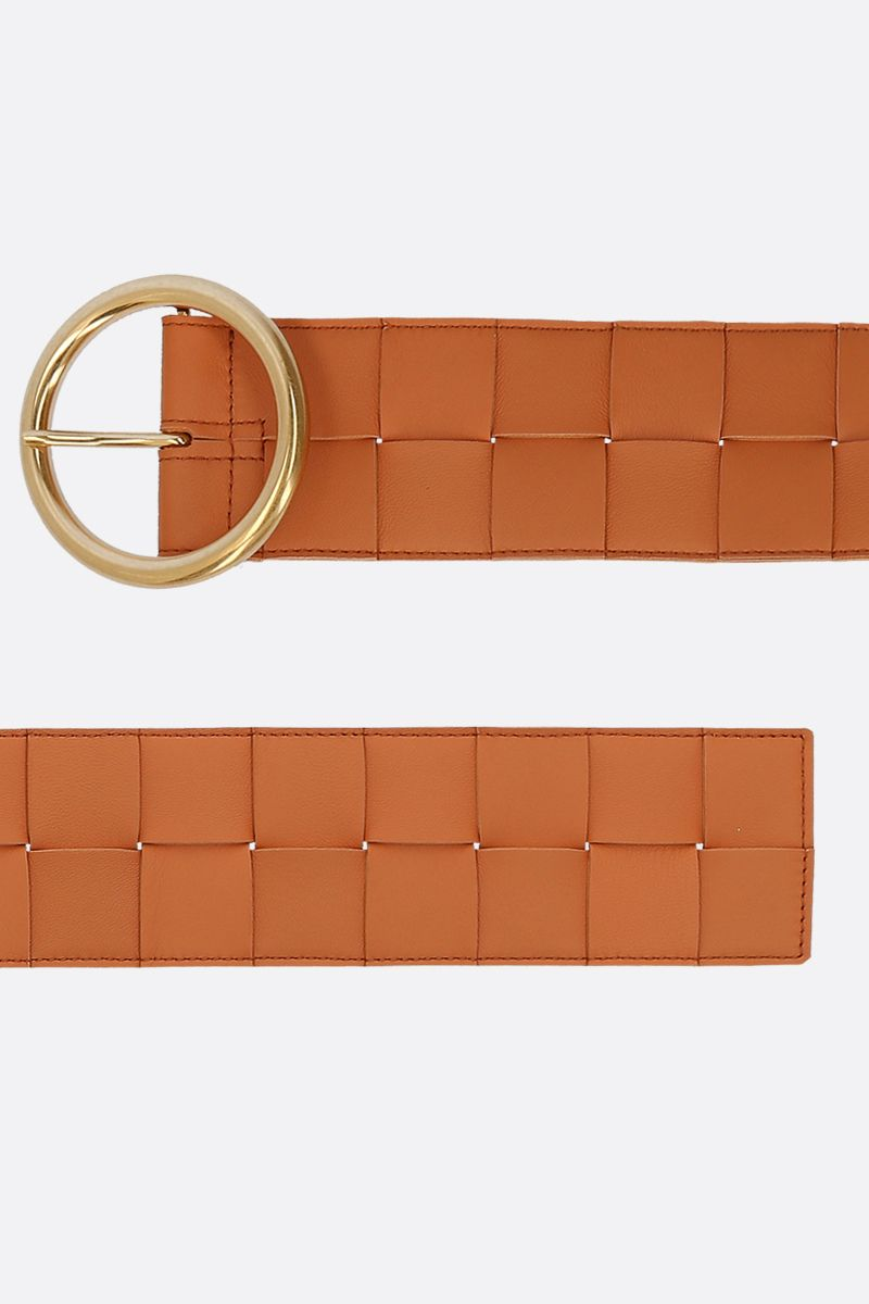 BOTTEGA VENETA: Maxi Intrecciato belt Color Grey_2