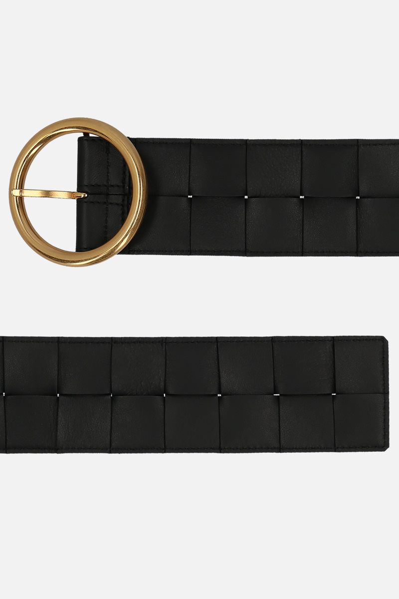 BOTTEGA VENETA: Maxi Intrecciato belt Color Black_2