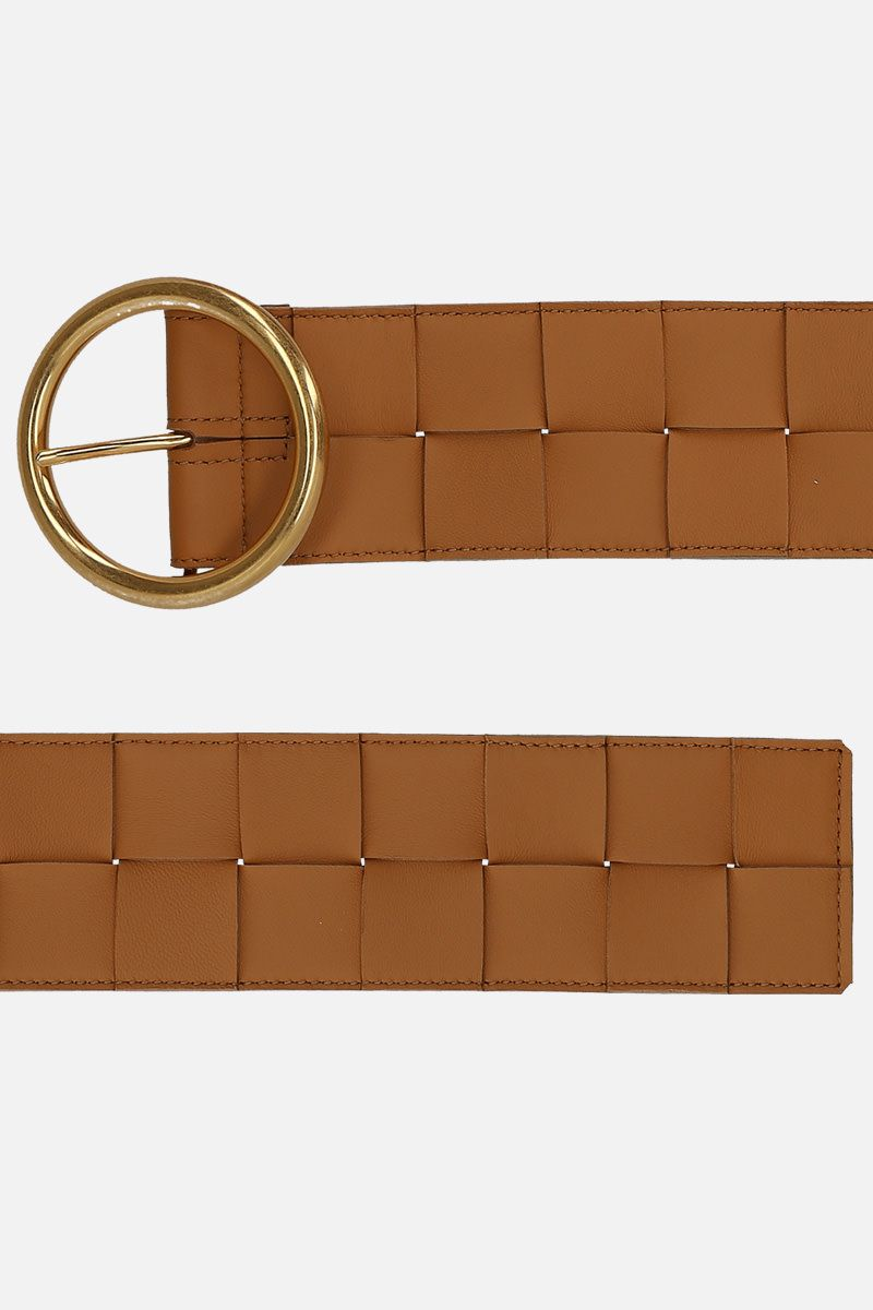 BOTTEGA VENETA: Maxi Intrecciato belt Color Brown_2