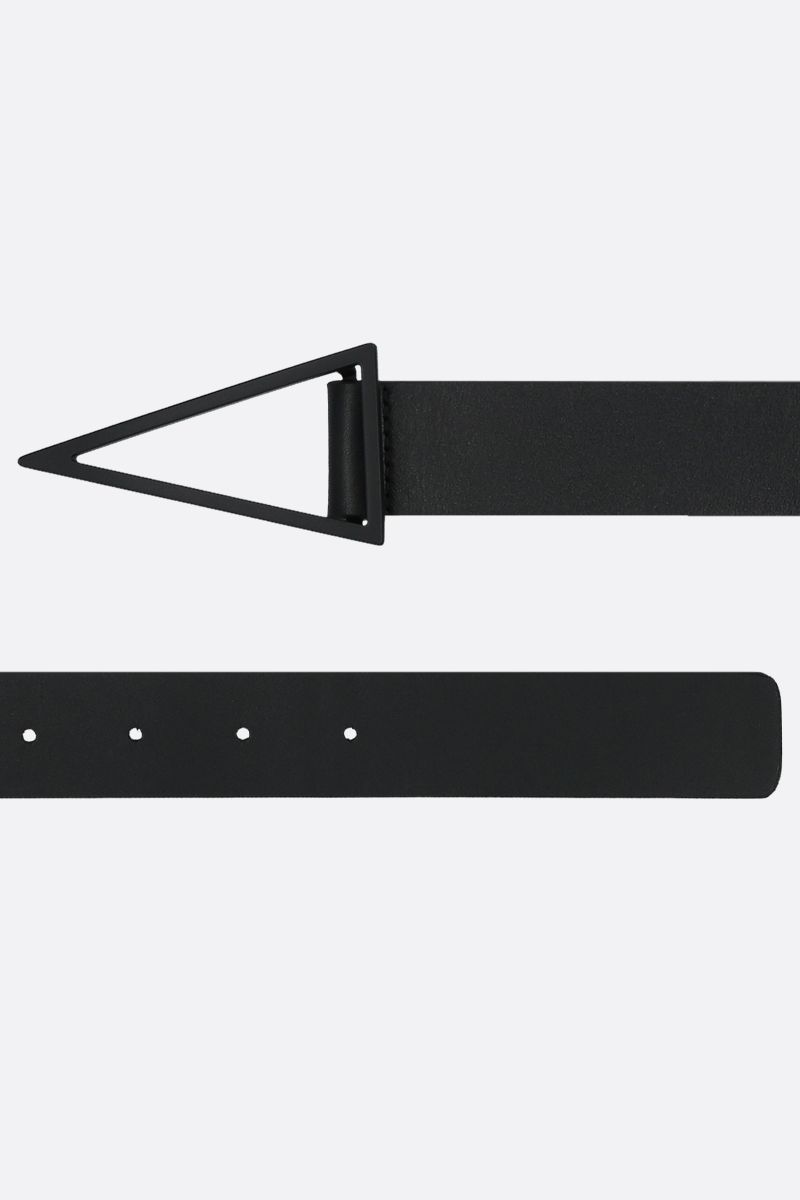 BOTTEGA VENETA: triangle buckle-detailed smooth leather belt_2