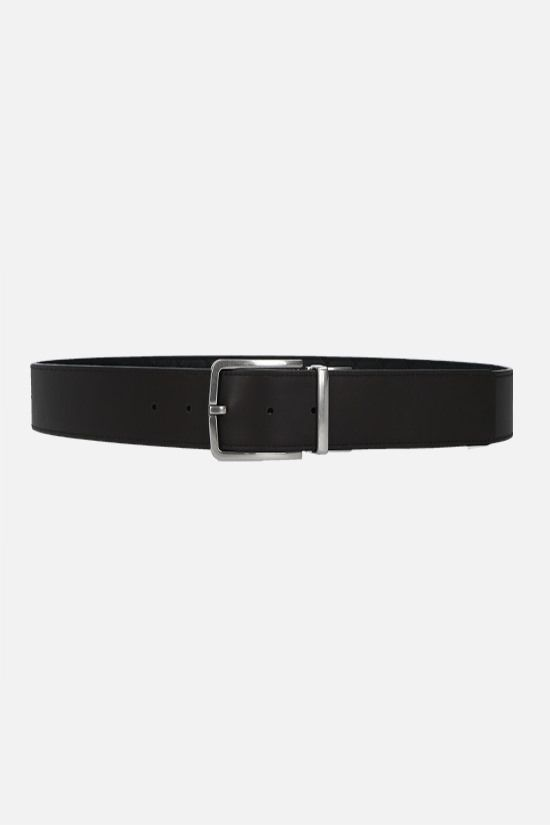 BOTTEGA VENETA: reversible Intrecciato VN and smooth leather belt Color Black_2