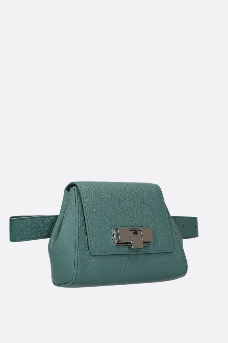 BOTTEGA VENETA: textured leather belt bag Color Blue_2