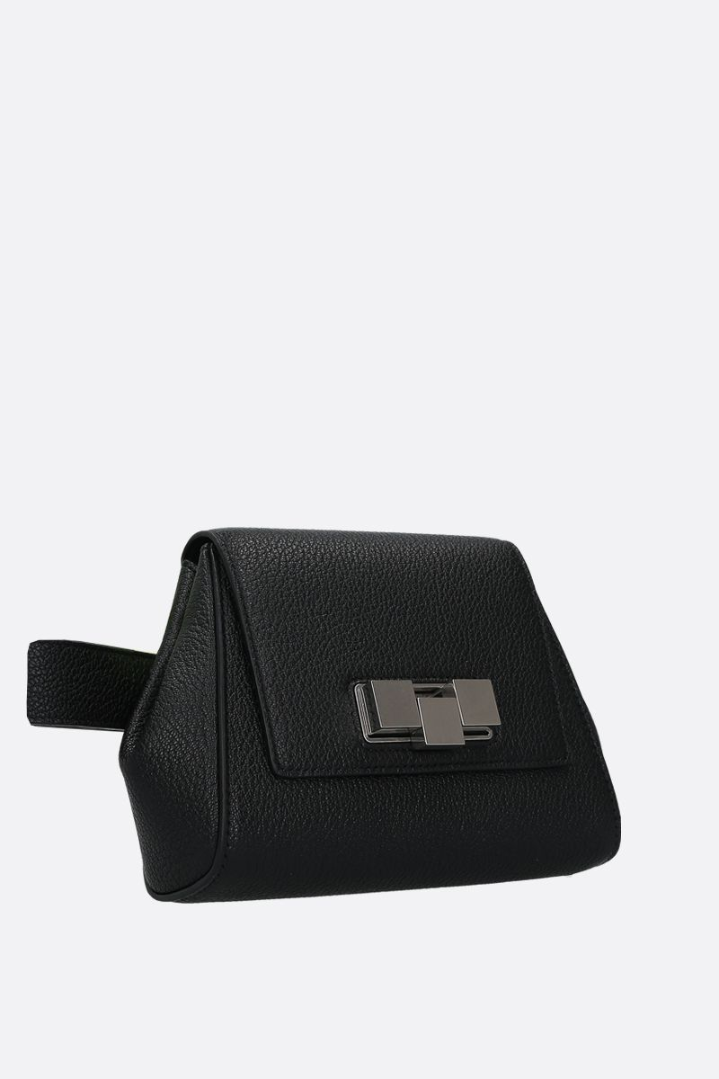 BOTTEGA VENETA: textured leather belt bag Color Black_2