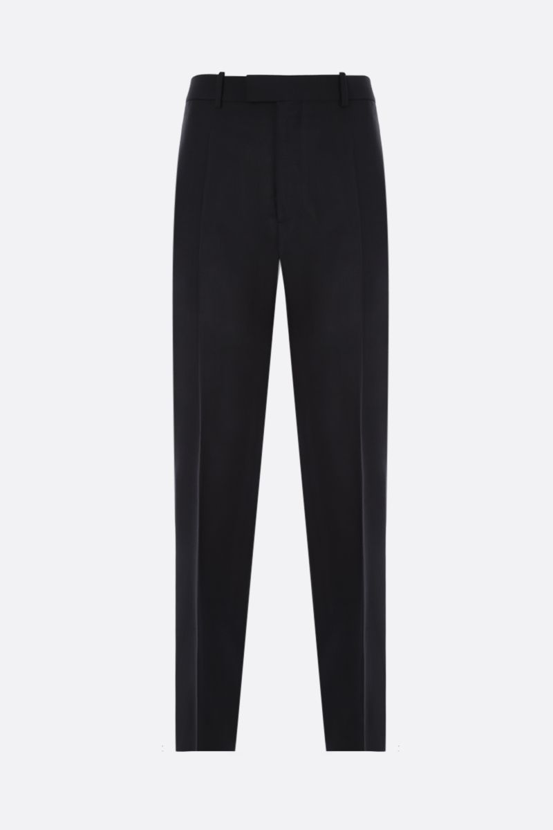 BOTTEGA VENETA: straight-fit mohair wool blend pants Color Black_1